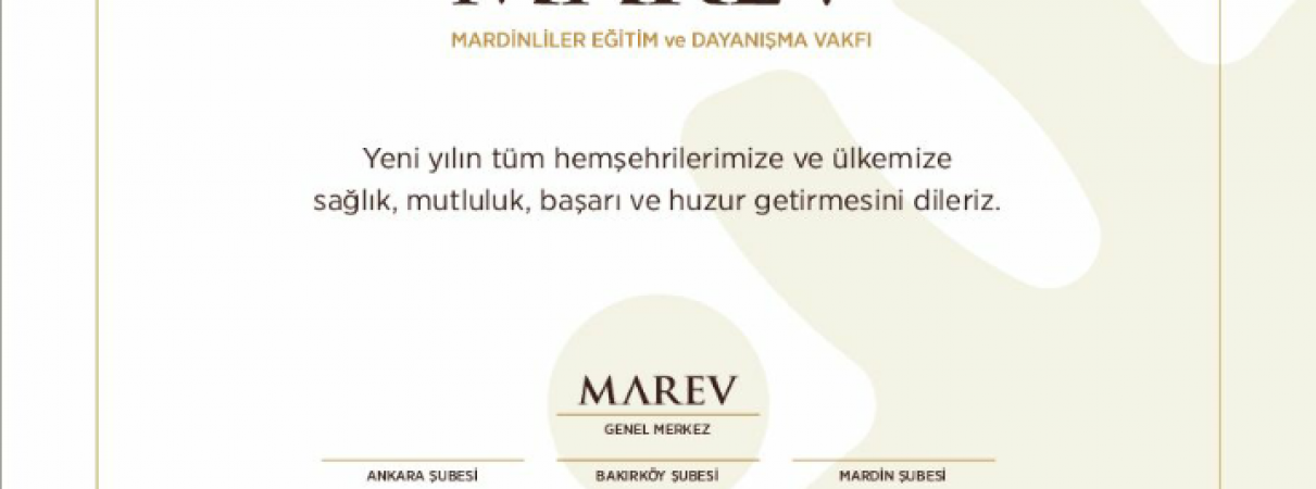 MAREV Yeni Yıl Mesajı